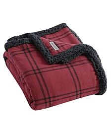 Kettle Falls Plaid Sherpa Throw