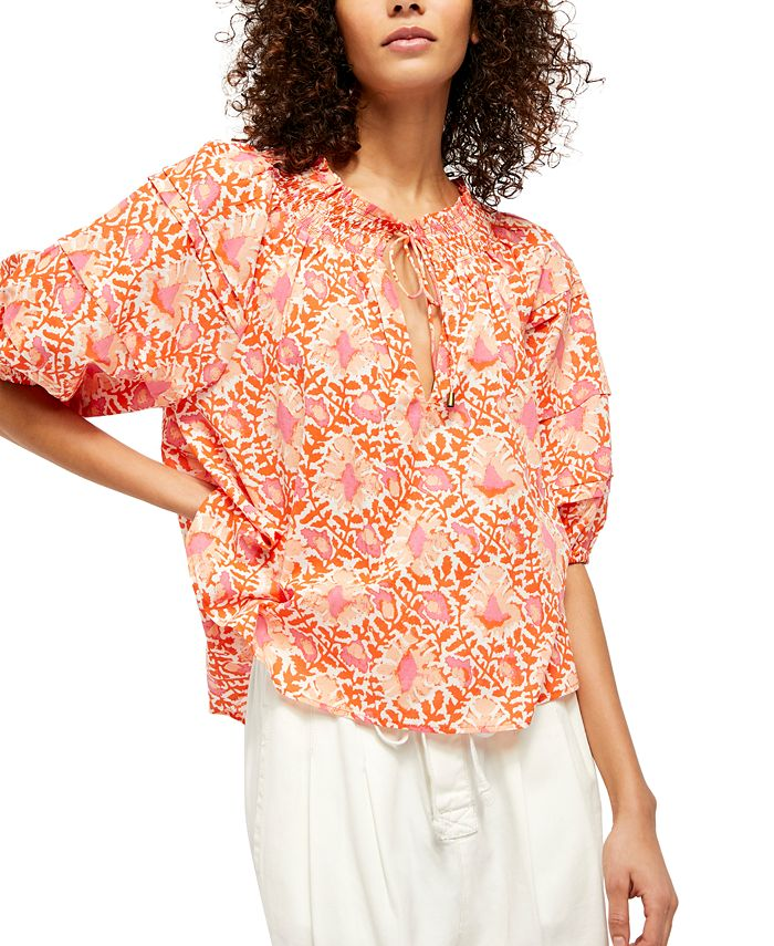 Free People - Willow Cotton Printed Top
