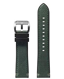 Men's Durevole Green Rubber Leather Hybrid Strap 22mm