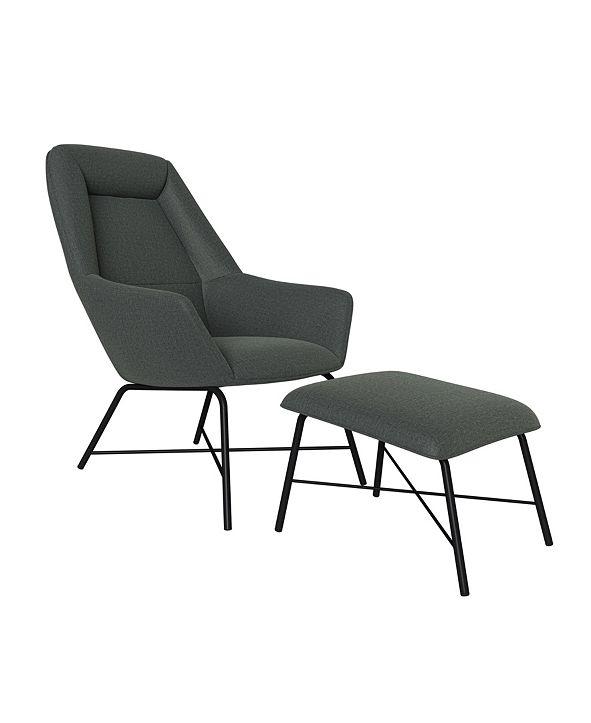Handy Living Jodi Chair and Ottoman Set