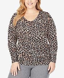 Plus Size Softwear Long-Sleeve V-Neck Top
