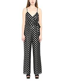 Printed Side-Tie Jumpsuit