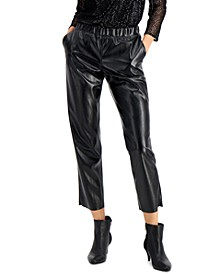 Faux Leather Pull-On Pants, Created for Macy's