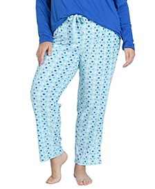 Plus Size Stretch-Fleece Pajama Pants