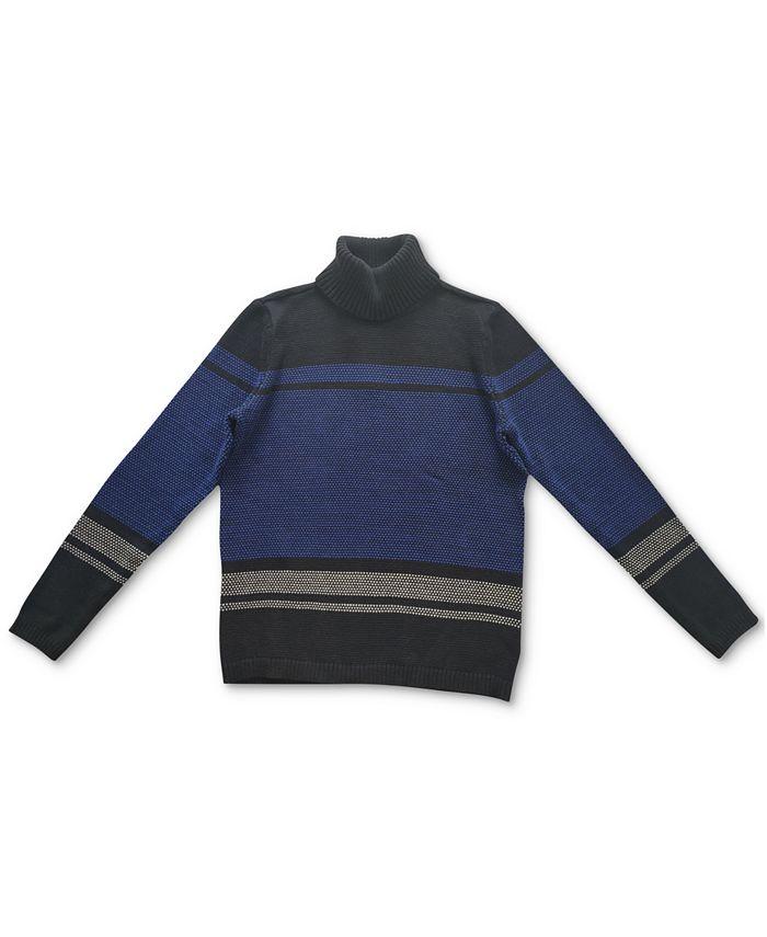 Karen Scott - Cotton Colorblocked Turtleneck Sweater
