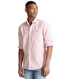 Men's Classic-Fit Striped Oxford Shirt