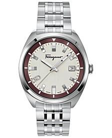 Men's Swiss Evolution Stainless Steel Bracelet Watch 40mm