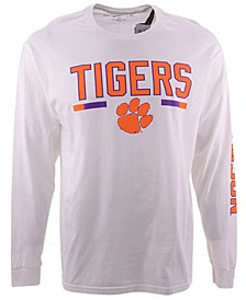 Retro Brand Clemson Tigers Men's Team Stripe Long Sleeve T-Shirt