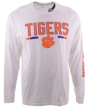 Retro Brand Clemson Tigers Men's Team Stripe Long Sleeve T-Shirt