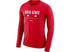 Ohio State Buckeyes Men's Dri-Fit Cotton Icon Wordmark Long Sleeve T-Shirt