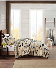 Flannel Full/Queen Comforter Lake Mini Set