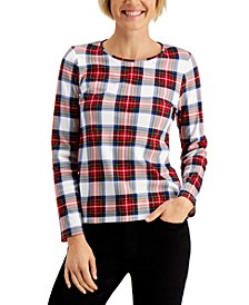 Cotton Plaid T-Shirt, Created for Macy's
