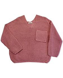 Trendy Plus Size V-Neck Sweater