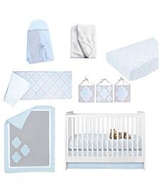 Medallion 10 Piece Crib Bedding Set