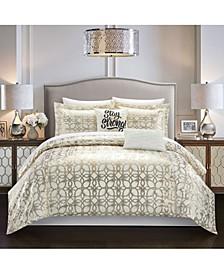 Shefield 7 Piece Twin XL Comforter Set
