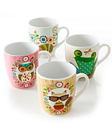 Critter Fun 4 Piece 27 Ounce Stoneware Critter Cup Set