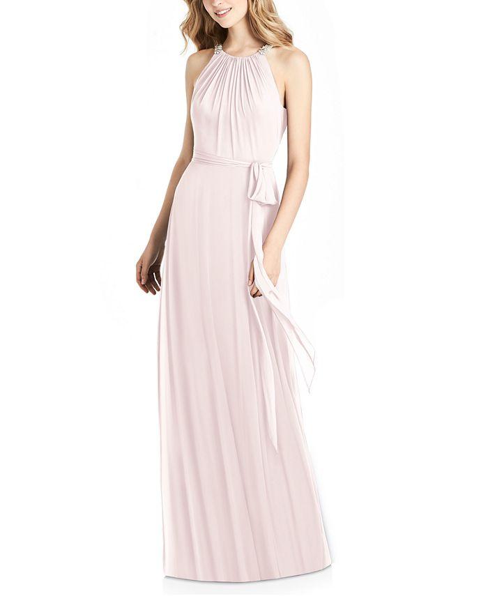 Jenny Packham - Embellished Halter Gown