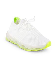Women's Marathon Lace Up Neon Sole Sneakers