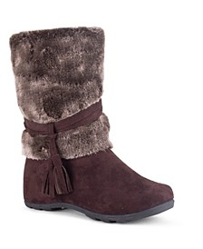 Women's Downhill Fuzzy Mid Calf Boots