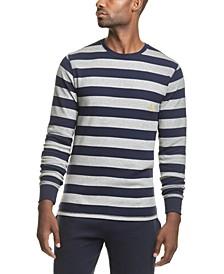 폴로 랄프로렌 럭비 스트라이프 와플 니트 파자마 셔츠 Polo Ralph Lauren Mens Rugby-Stripe Waffle-Knit Pajama Shirt