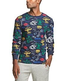 폴로 랄프로렌 프린트 와플 니트 파자마 셔츠 Polo Ralph Lauren Mens Printed Waffle-Knit Pajama Shirt