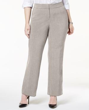Plus & Petite Plus Size Curvy-Fit Straight-Leg Pants
