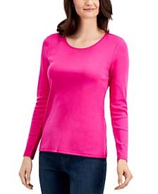 Pima Cotton Long-Sleeve Top, Created for Macy's