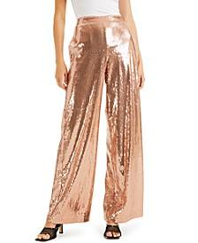 CULPOS X INC Sequin Wide-Leg Pants, Created for Macy's