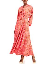 INC Petite Tie-Neck Maxi Dress, Created for Macy's