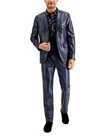 INC Men's Slim-Fit Faux Leather Blazer, Created for Macy's