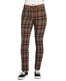 Juniors' Plaid Stretch Pants