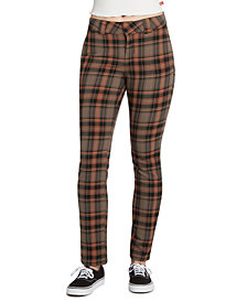 Dickies Juniors' Plaid Stretch Pants