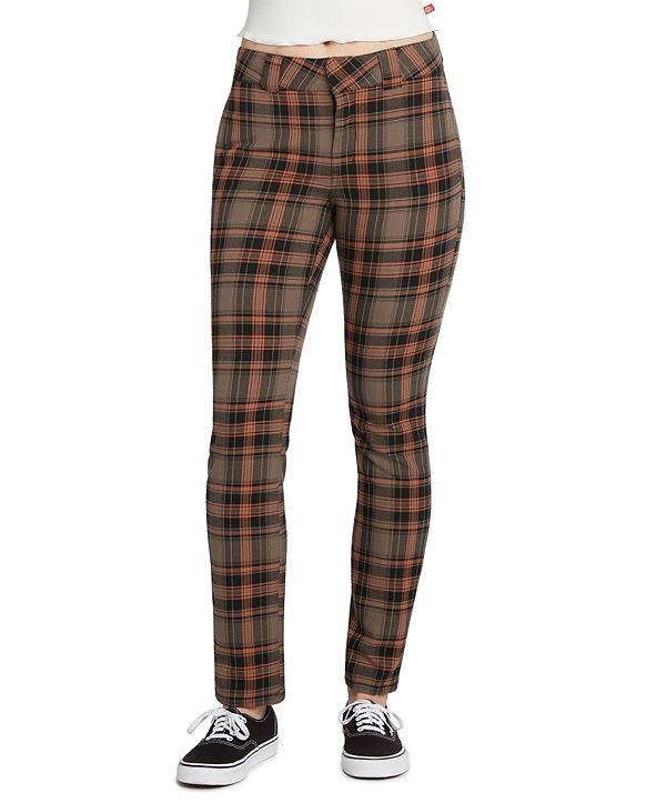Dickies Juniors' Plaid Stretch Pants