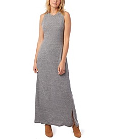 Eco-Jersey Side Slit Women's Maxi Dress