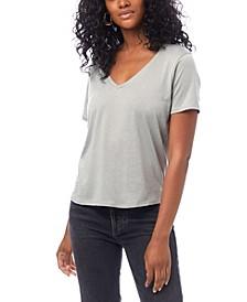 Organic Cotton V-neck Women's T-shirt