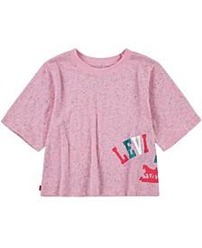Big Girls Nep Jersey Cropped T-Shirt