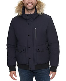 Men's Snorkel Jacket with Removable Faux-Fur Hood