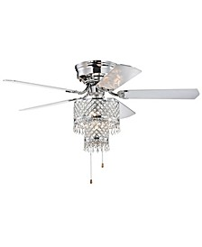 "Jemar 52"" 2-Light Indoor Hand Pull Chain Ceiling Fan with Light Kit"
