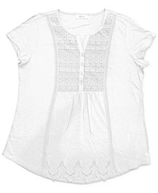 American Picnic Lace-Front Top, Created for Macy's