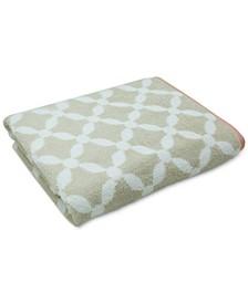 """Dot Lattice 30"""" x 54"""" Bath Towel, Created for Macy's"""
