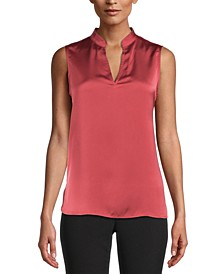 Split-Neck Sleeveless Top