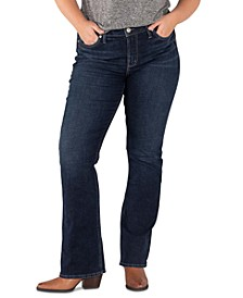 Trendy Plus Size Avery Slim Bootcut Jeans