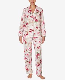 Printed Woven Pajamas Set