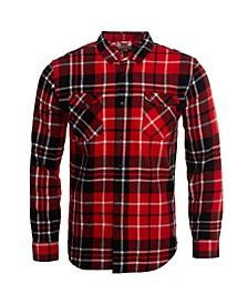 Men's Modern Western Plaid Flannel Shirt