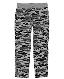 Little Boys Camo Twill Pant with Drawstring Waist
