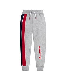 Little Boys Striped Fleece Joggers