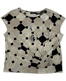 Draped Printed Top, Created for Macy's