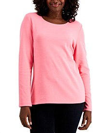 Cotton Long-Sleeve T-Shirt, Regular & Petite Sizes, Created for Macy's