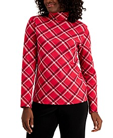 Plaid Long-Sleeve Turtleneck, Created For Macy's