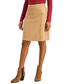 A-Line Wool Skirt